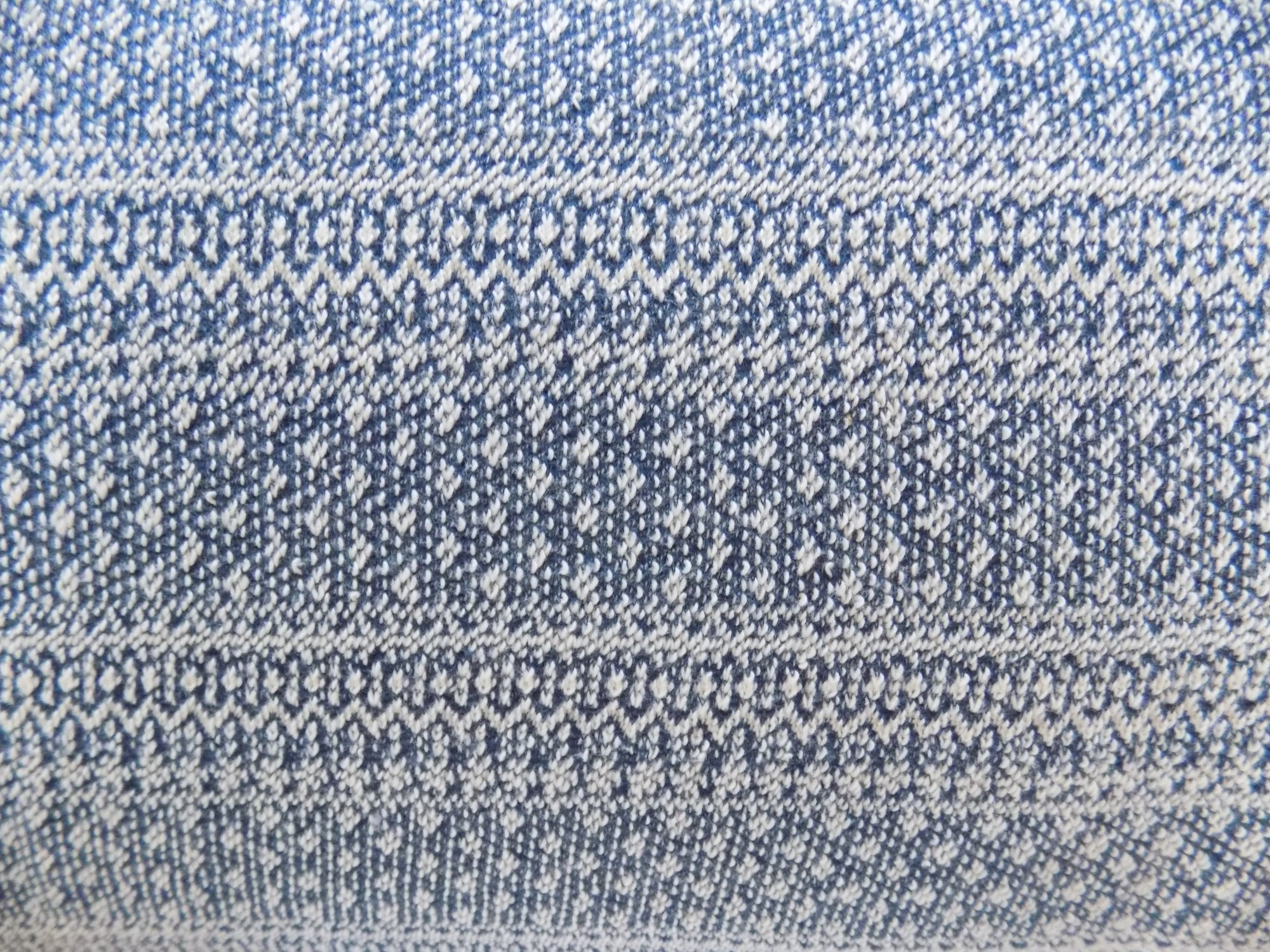 Knitted Jacquard Blue