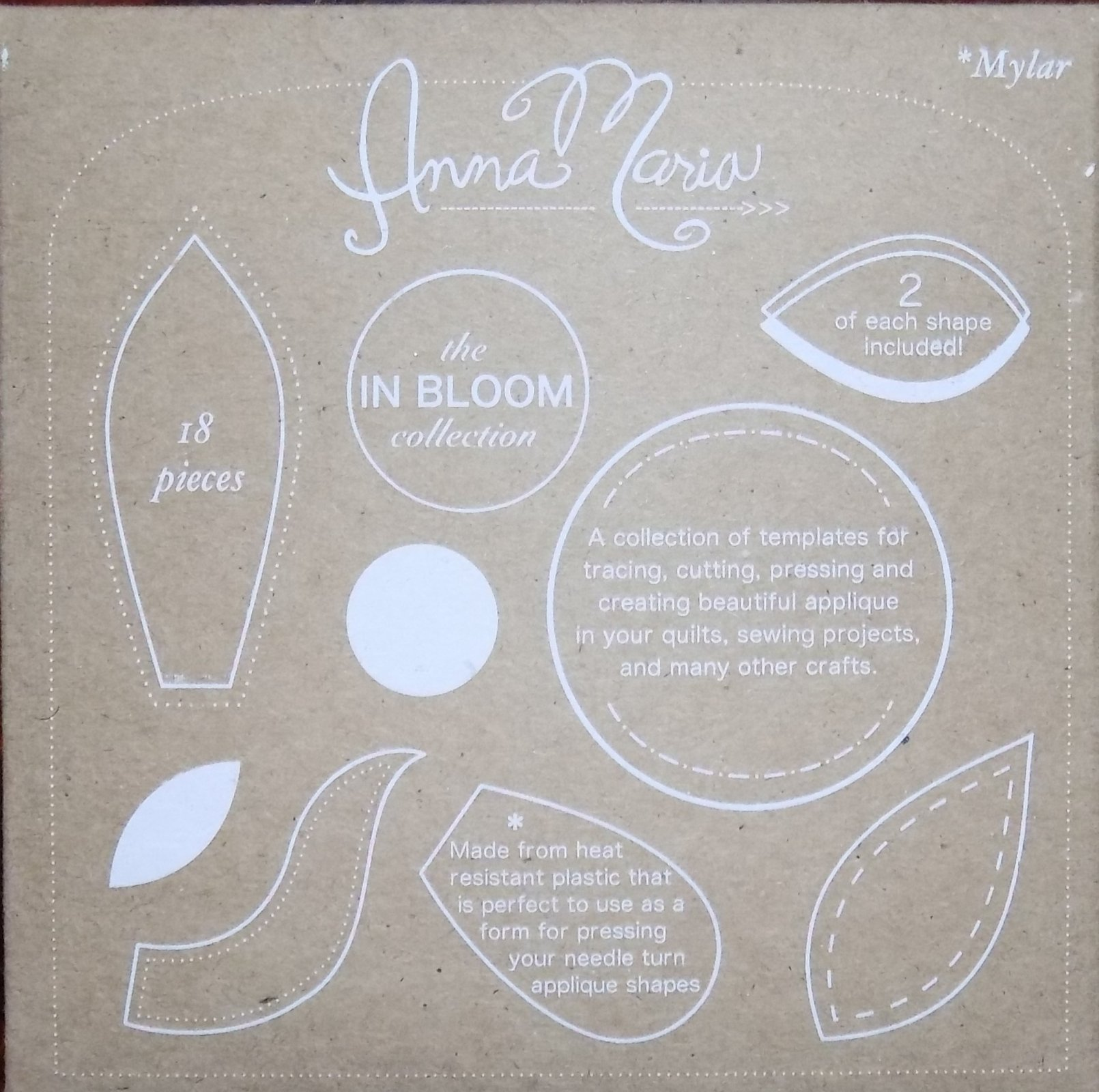 IN BLOOM Mylar Templates