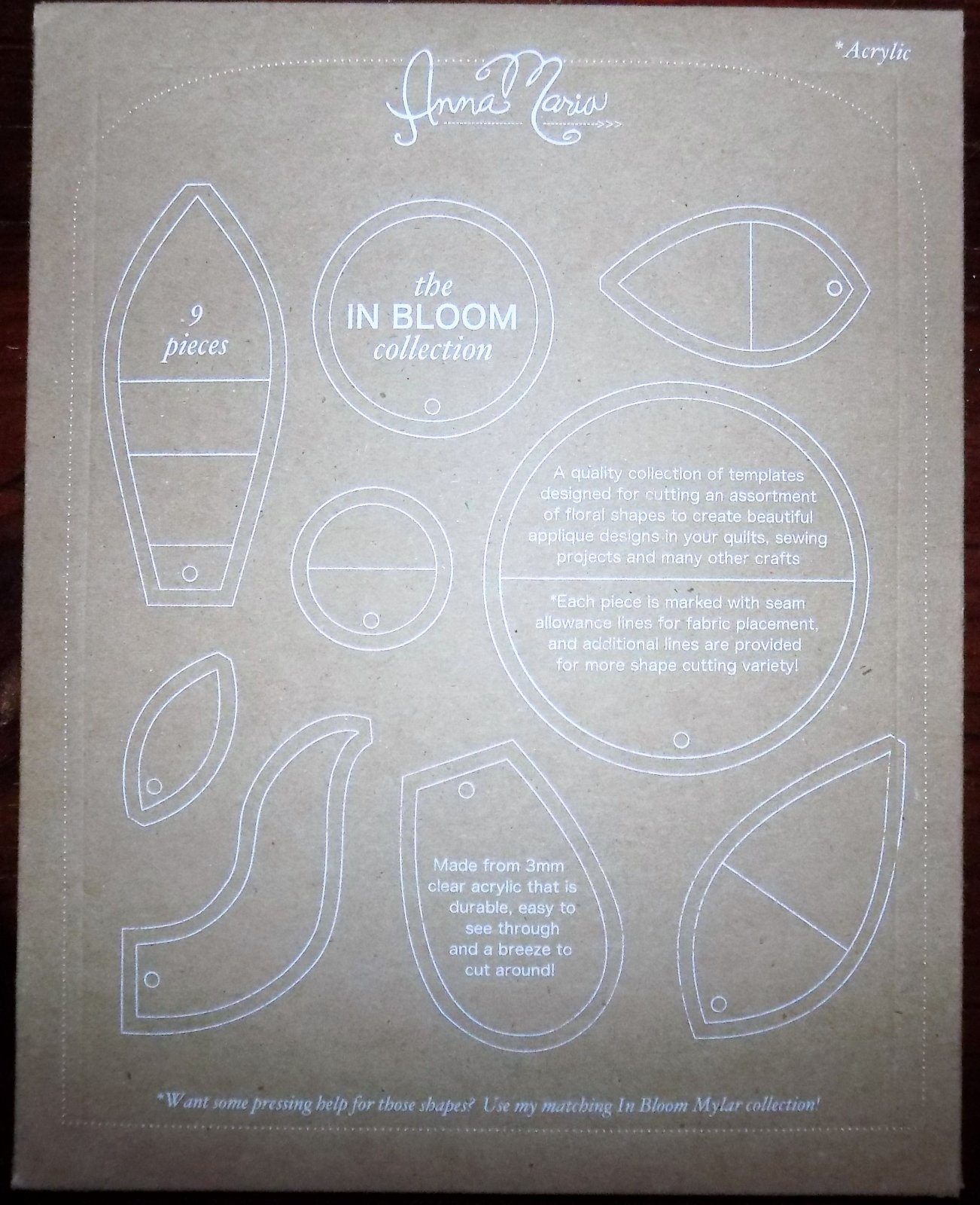 IN BLOOM Acrylic Templates