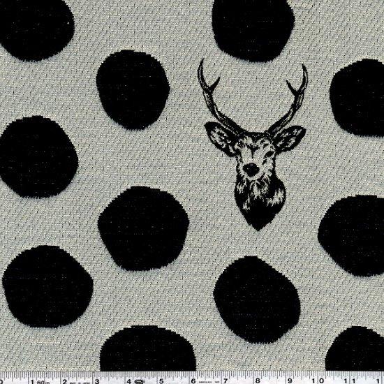 Deer JACQUARD Black