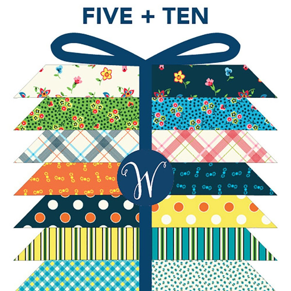 FIVE AND TEN Fat Quarter Bundle