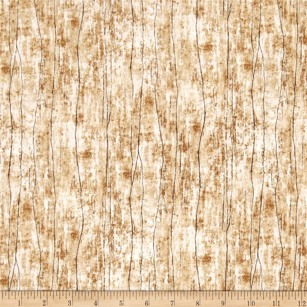 Wilmington Prints - Greener Pastures - Wood Texture Tan