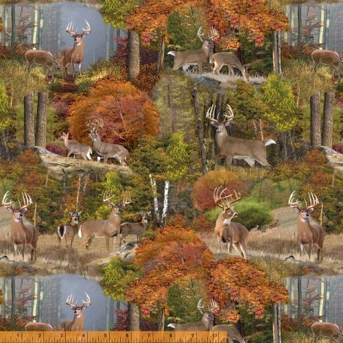 Windham Fabrics - Forest by Whistler Studios -Deer Allover