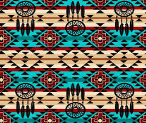 David Textiles - Native Dreamcatcher Turq/Black