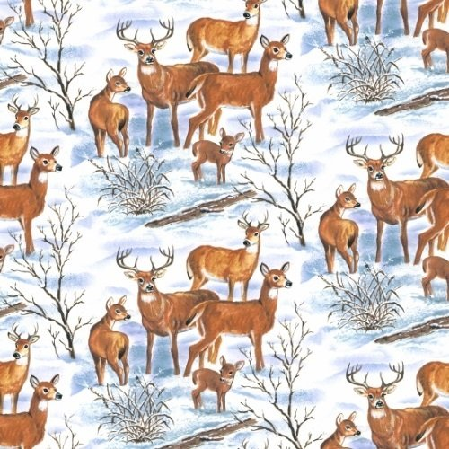Blank Quilting - Snowscapes - Deer