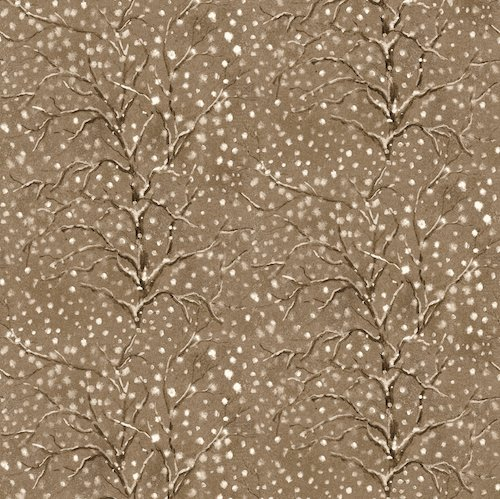 Blank Quilting - Snowscapes - Brown Winter Trees