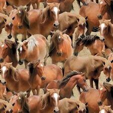 Wilmington Prints - Greener Pastures - Horses Tan