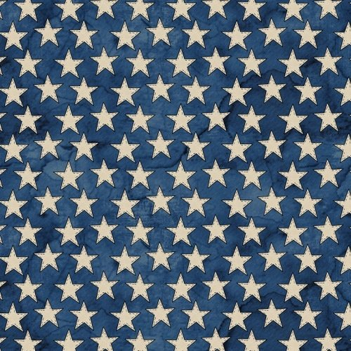 Blank Quilting American Honor -  Blue with White Stars