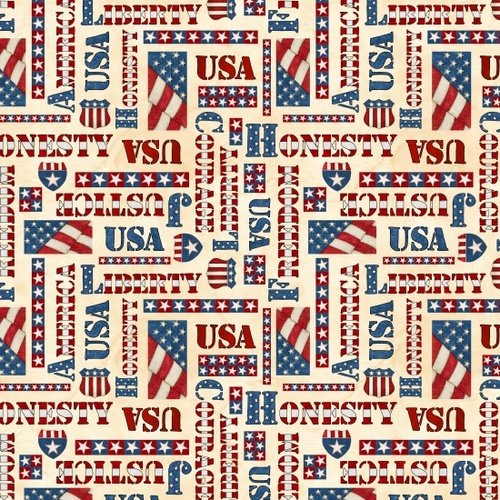 Blank Quilting American Honor - Words