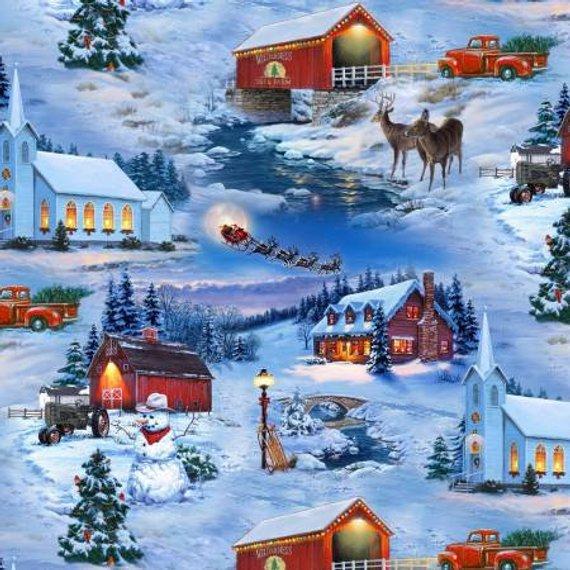 Elizabeth's Studio- Country Christmas - 8905-blu