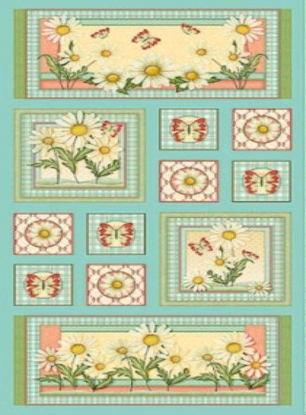 Quilting Treasures - Daisy Garden - Aqua Panel