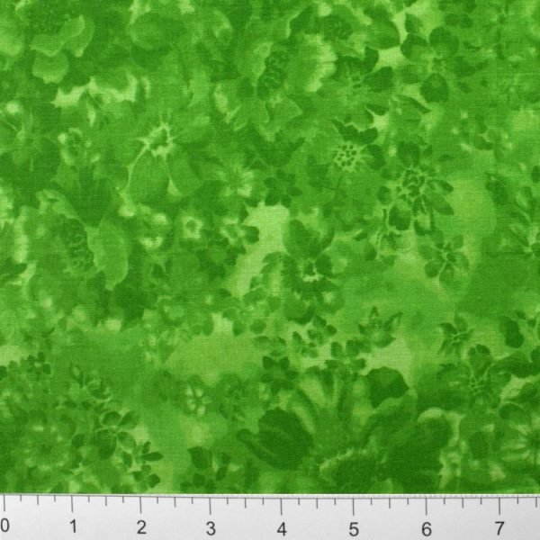Marshall Dry Goods  Faded Floral - Kelly Green