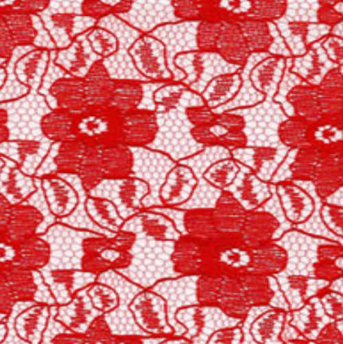 Raschel Allover Lace 60 100% Polyester Red