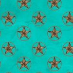 Blank Quilting Home on the Range  Star Teal