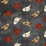Blank Quilting Home on the Range  Cowboy Hats Black