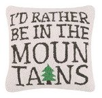 I'd Rather be in the Mountains 16 x 16 Pillow