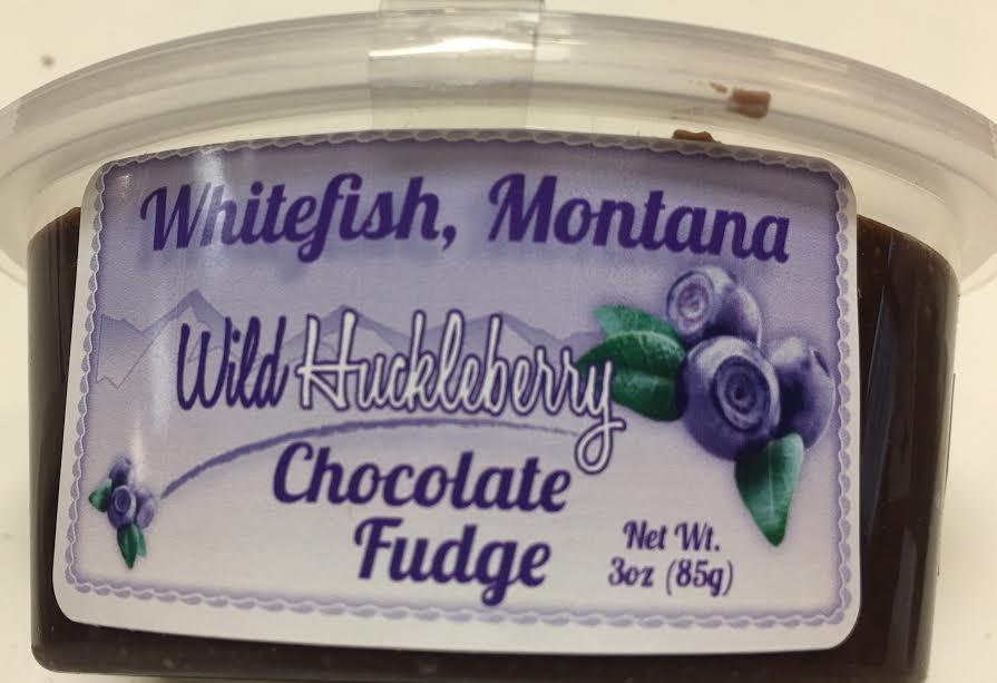 3 oz Huckleberry Milk Chocolate Fudge