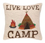 Live Love Camp 18 x 18 Pillow