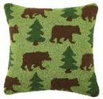 Bear and Tree 16 x 16 Pillow