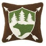 Bear Badge 16 x 16 Pillow