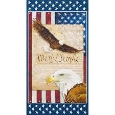 AWHD- 18018- 202 Americana Eagle Cotton Panel