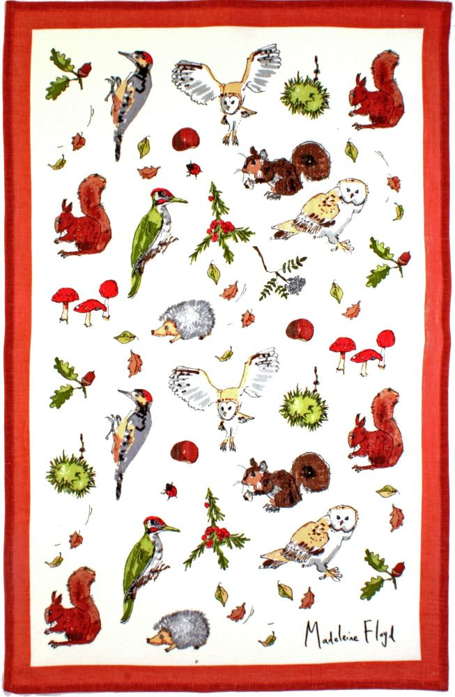 MF Woodland Linen Tea Towel