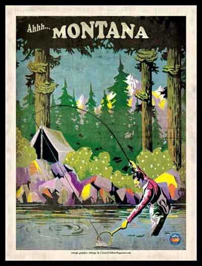 Ahh... Montana Framed Poster 18 x 24