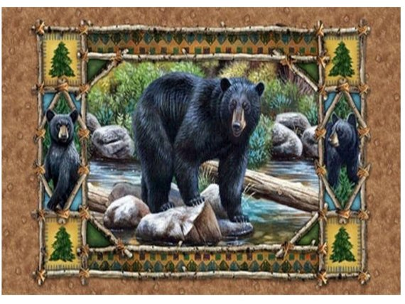 Bear Triptick panel
