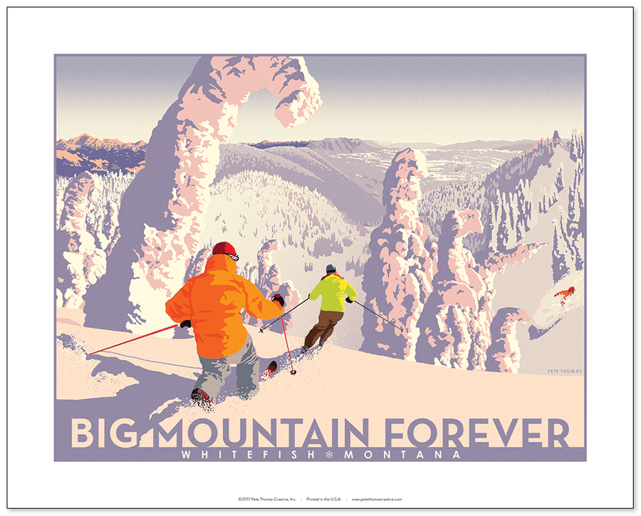 Big Mountain Forever Poster Pete Thomas