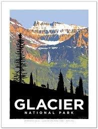 Glacier Birdwoman Poster 18' x 24