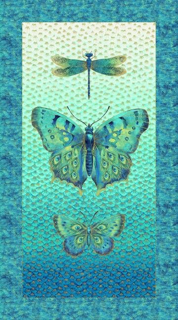 Bejeweled Wings - Cotton Panel