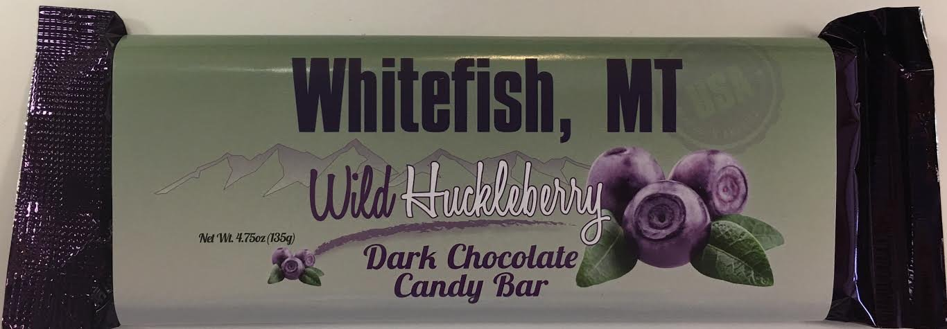 4.75 oz Dark Choc Huckleberry Candy Bar