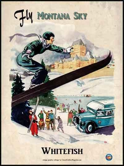 Fly Montana Sky Poster 18 x 24