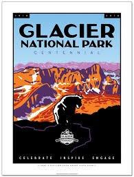 Glacier Centennial Poster 18 x 24