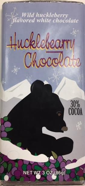 3 oz White Chocolate Huckleberry- Bears