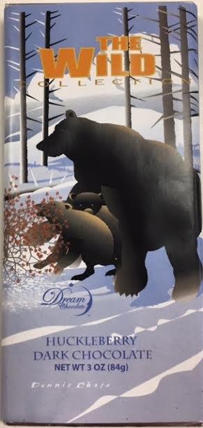 3 oz Huckleberry Dark Chocolate-Bears
