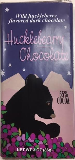 3 oz Dark Huckleberry Chocolate-Bear