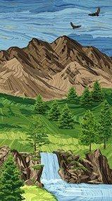 Mountain Sunset Panel - 21598M