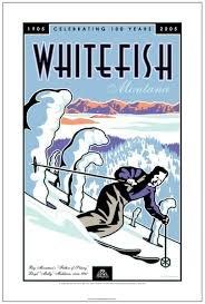 Whitefish Ski Poster 16 x 24