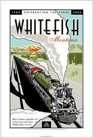 Whitefish Train Poster 16 x 24
