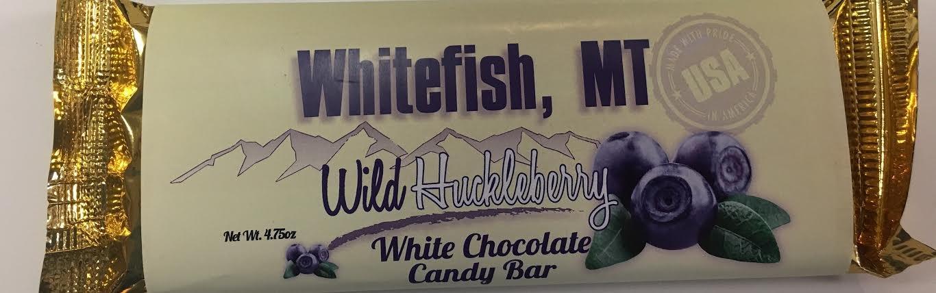 4.75 oz White Choc Huckleberry Candy Bar