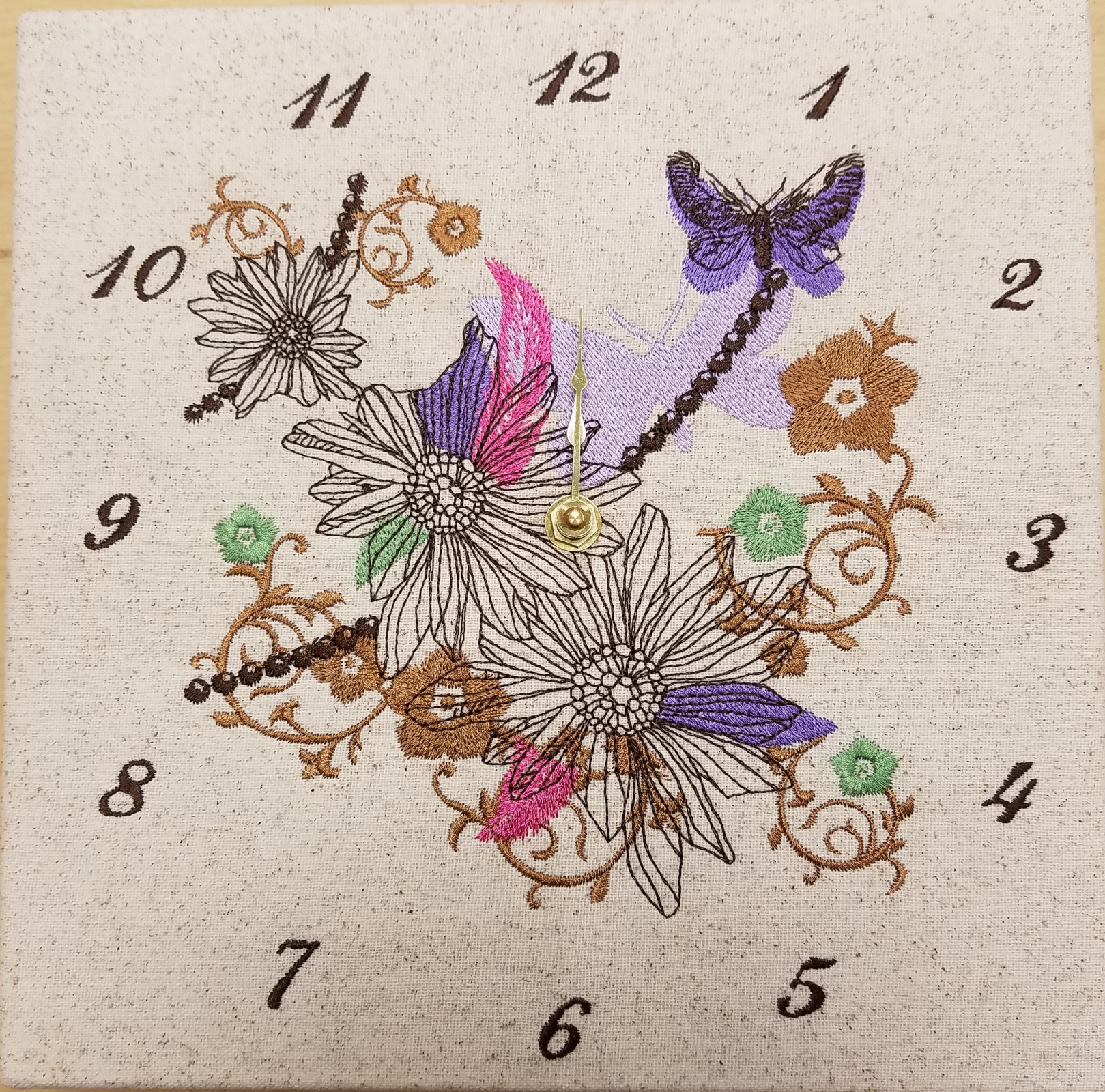 Embroidery Clock Kit