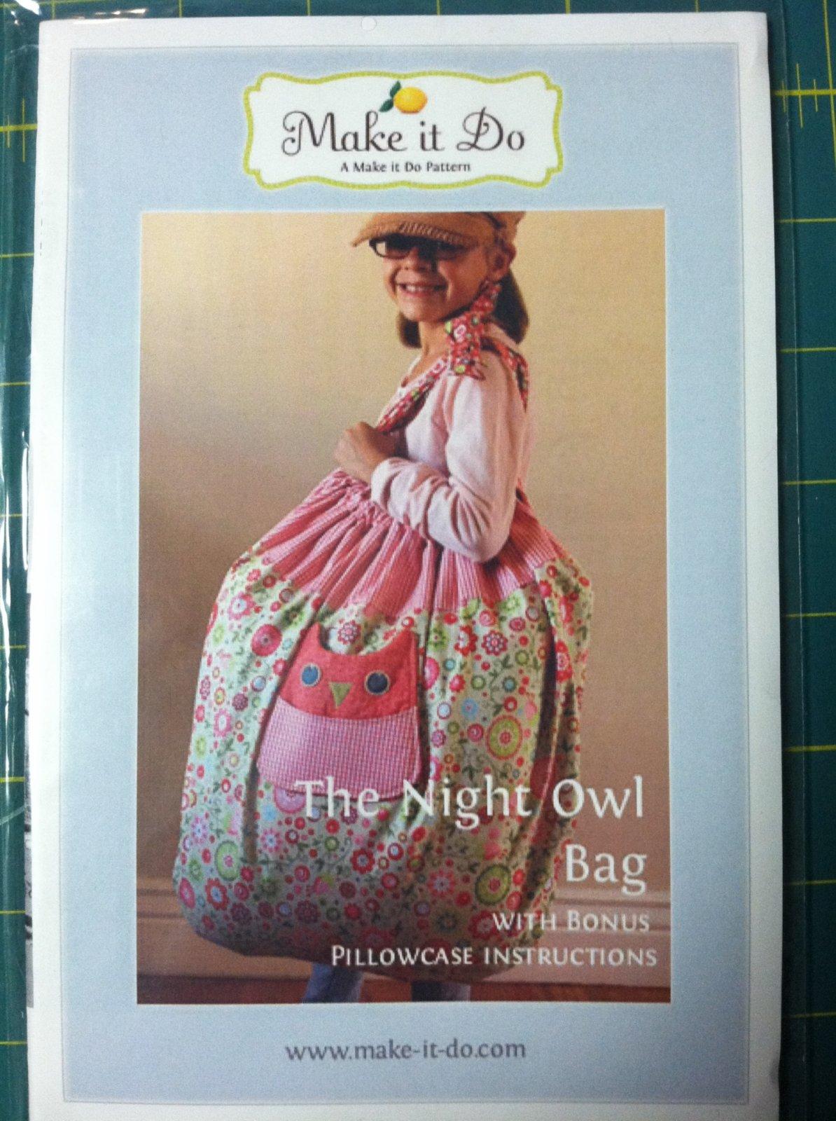 Owl Bag w/Bonus Pillow Case