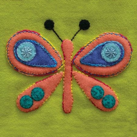 Sue Spargo Pre-Cut Wool Applique Pack - Butterfly