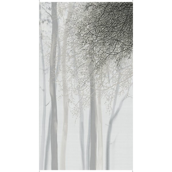 QT Artworks XV Ombre Tree 24in Panel - Gray 27627-K