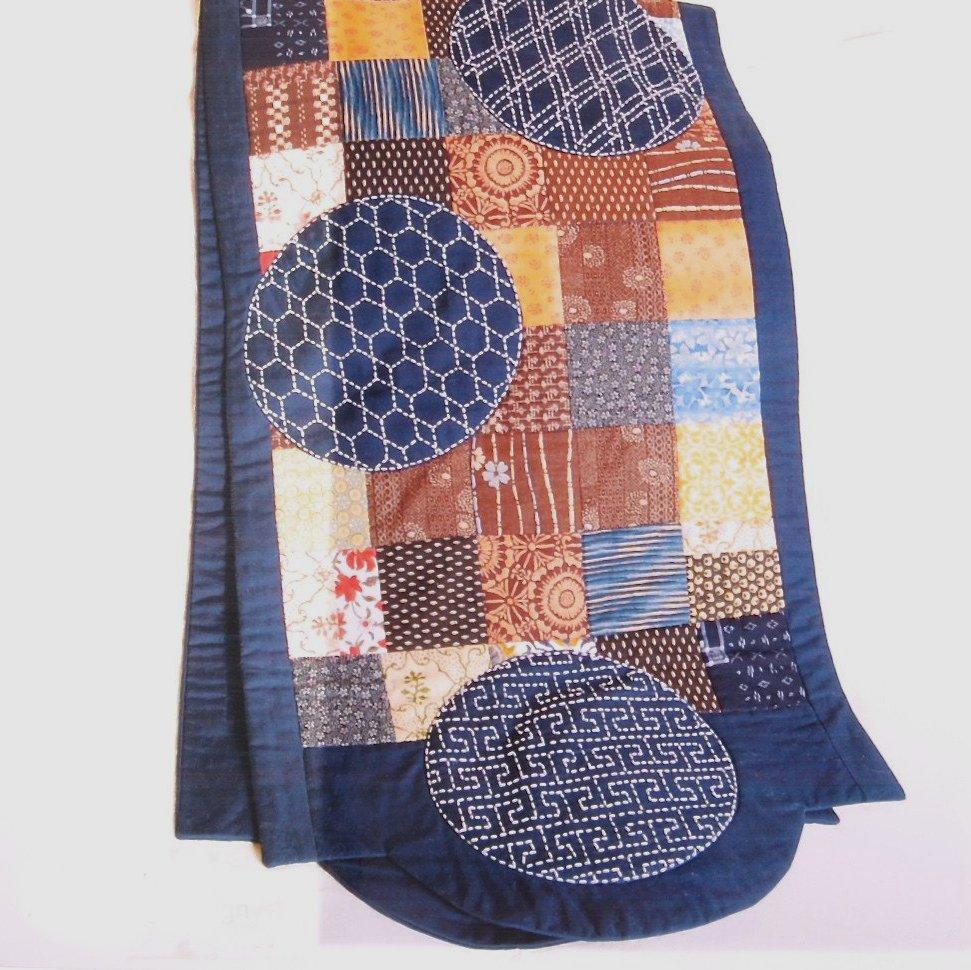 Pattern 6 Sashiko Circles Runner by Alderspring Design