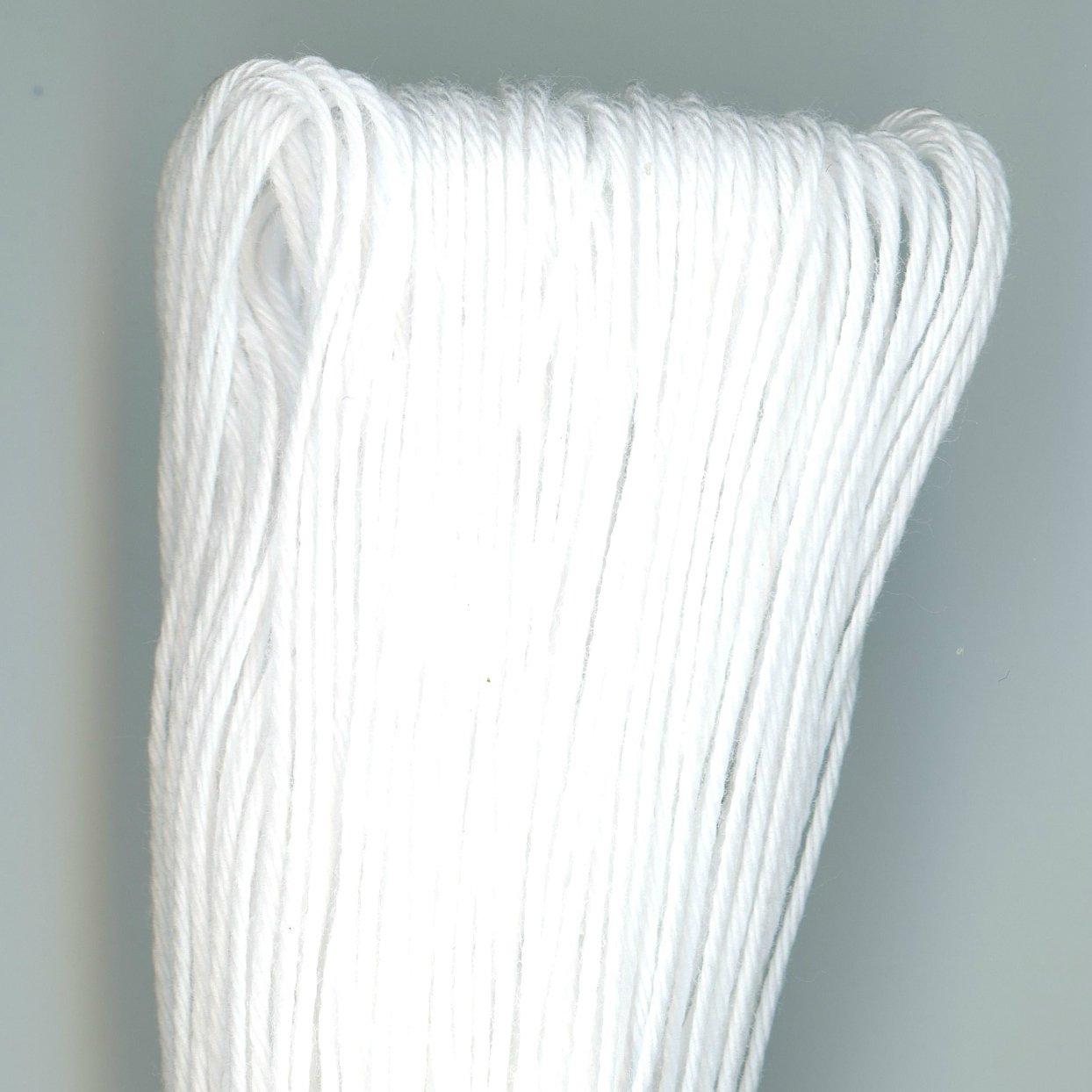Yokota Numees 40M Sashiko Boro Thread White - Very Fine Weight