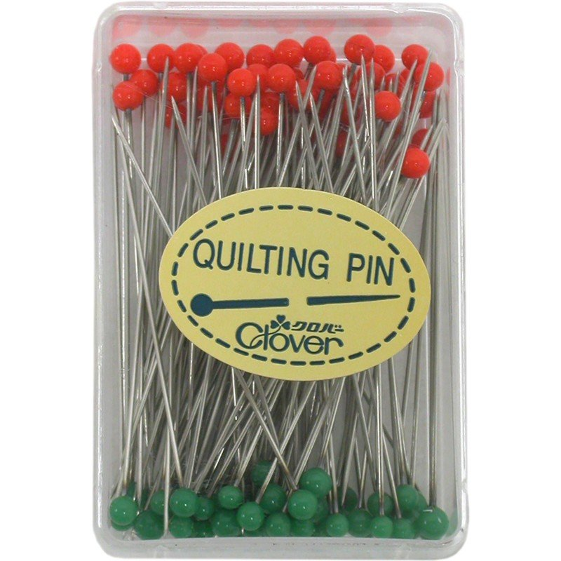 Clover Quilting Glass Head Pins 100ct CLO2508
