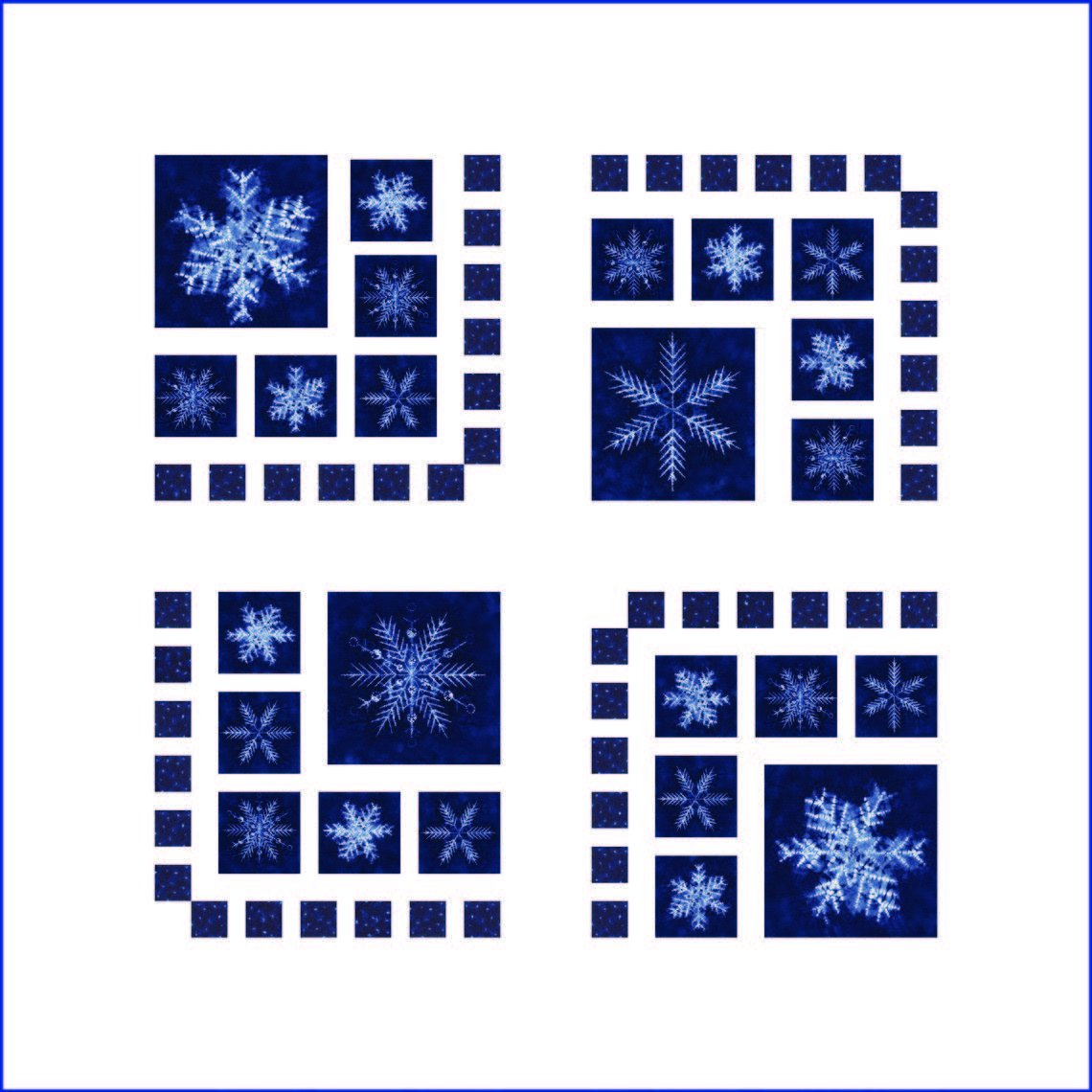 Frost on the Window Wall Hanging Kit from Quilting Foxes QFQK-FOTW