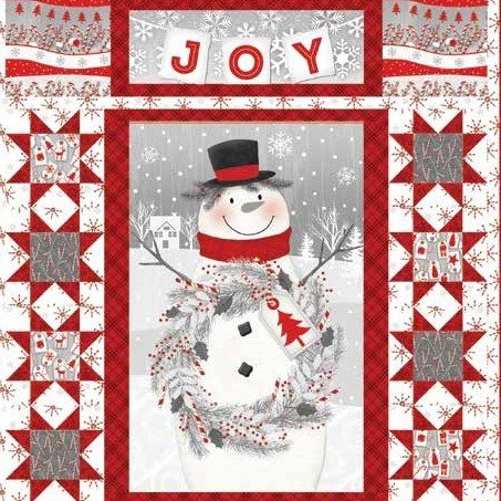 Frosty Friends Flannel Wall Hanging or Lap Quilt Kit w/Free Pattern